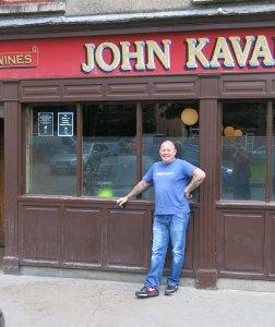 Tony Cappocci in front of John Kavanaugh's in Dublin.