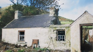 The O'Rourke house after it had fallen into disrepair.